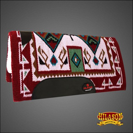 Made In Usa Hilason Western Wool Felt Saddle Blanket Pad Crimson Beige