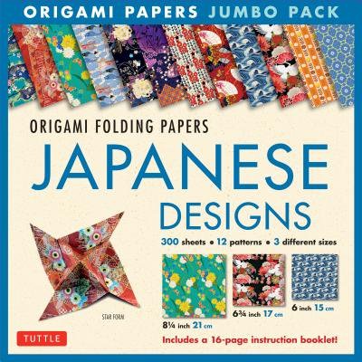 Origami Folding Papers Jumbo Pack: Japanese Designs : 300 High-Quality Origami Papers in 3 Sizes (6 inch; 6 3/4 inch and 8 1/4 inch) and a 16-page Instructional Origami (Best Instructional Design Courses In India)