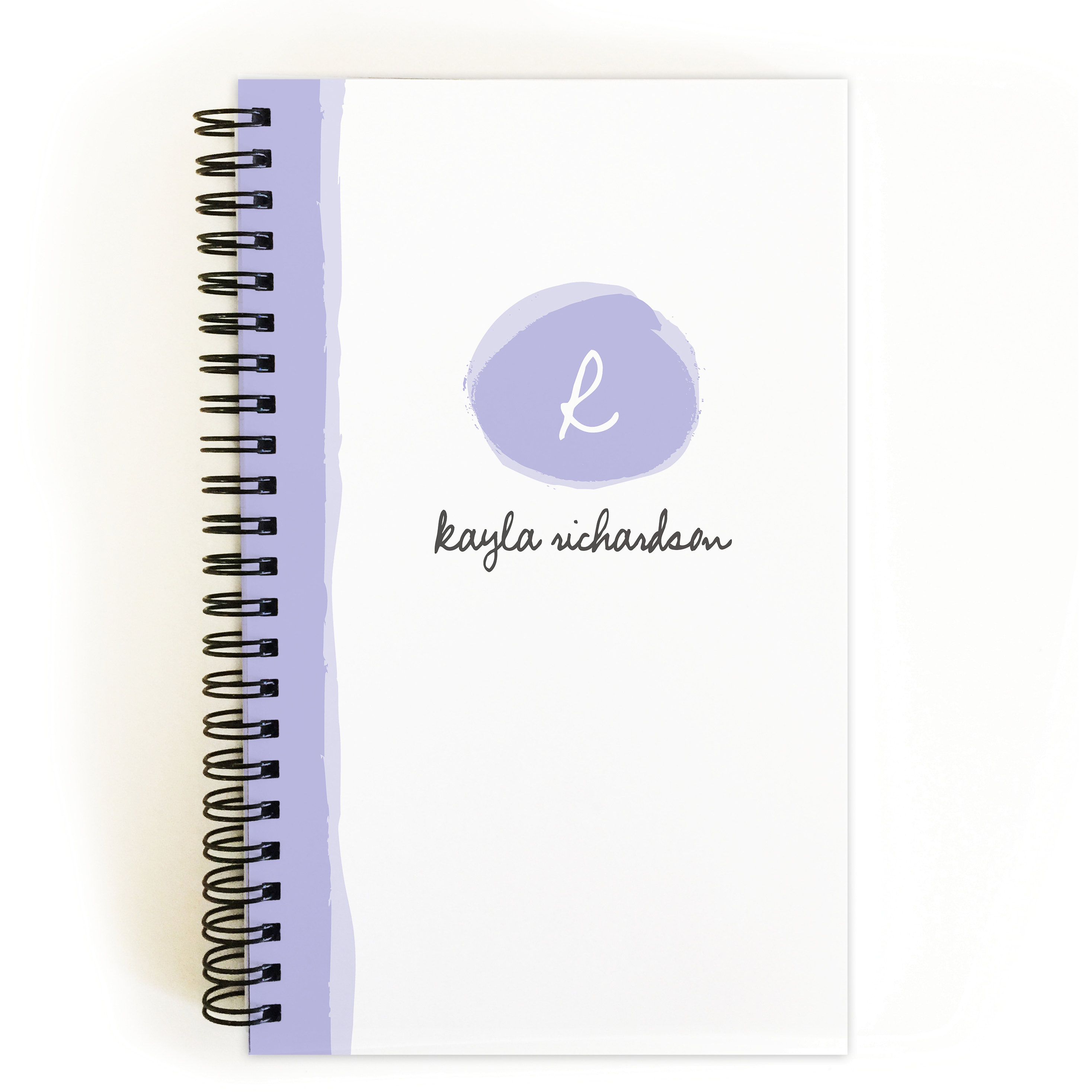 Brushstroke Monogram - Personalized 5 x 8 Notebook