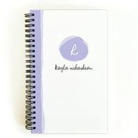 Brushstroke Monogram - Personalized 5 x 8 Notebook