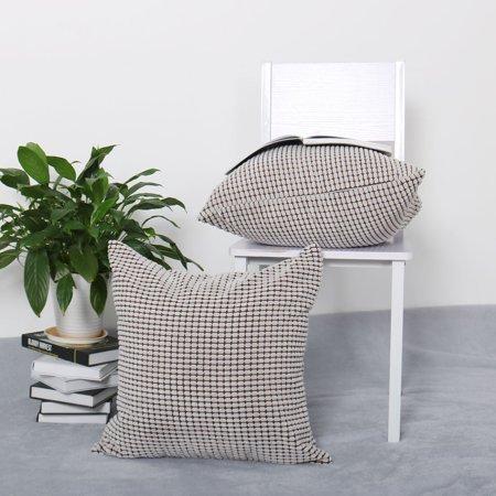 "Sofa Cushion Cover Striped Corduroy Throw Toss Pillow Case Shell 20"" Grey - image 5 de 7"
