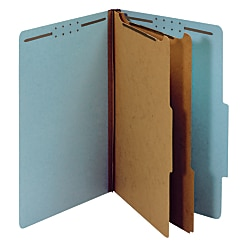 "Office Depot® Brand Pressboard Expanding File Folders, 2 1/2"" Expansion, Legal Size, 83% Recycled, Blue, Pack Of 5"
