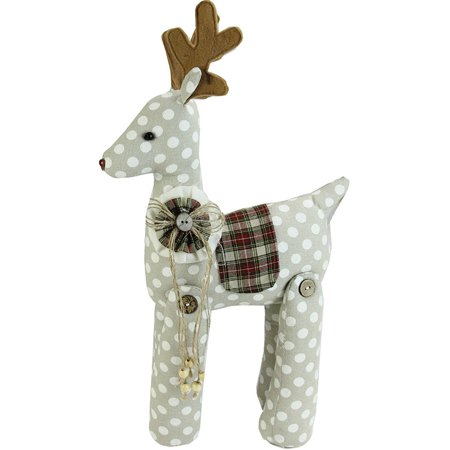 "20"" Brown and White Polka Dot Reindeer Christmas Decoration - image 1 of 1"