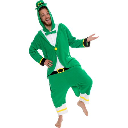 St Patrick's Day Costumes (Silver Lilly Leprechaun One Piece Adult Halloween Costume)