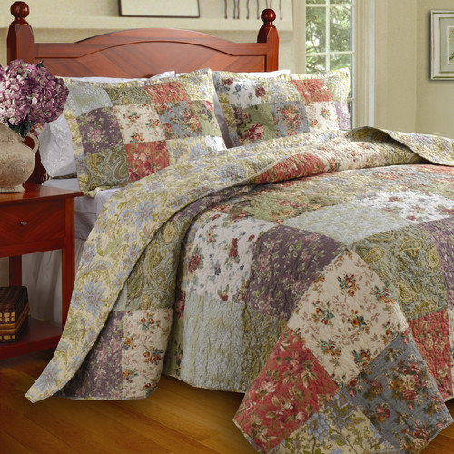Greenland Home Fashions Blooming Prairie Quilt Set