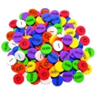 Essential Learning Products Place Value Disks, 4 Values