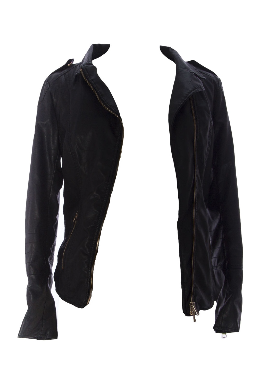 MOM2MOM Maternity Women's Faux Leather Jacket, EU 36, Black