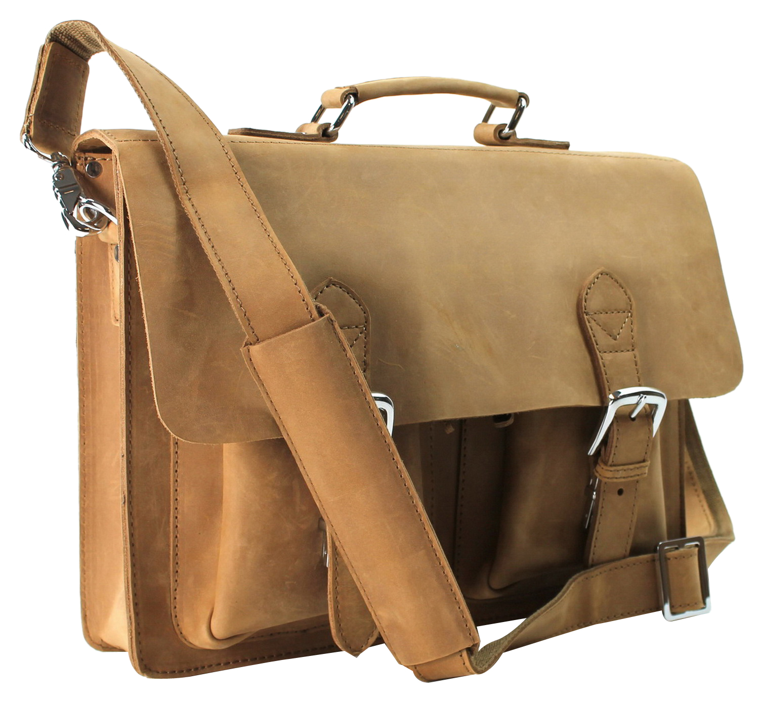 Vagabond Traveler Cowhide Leather Briefcase Laptop Bag L38.NB