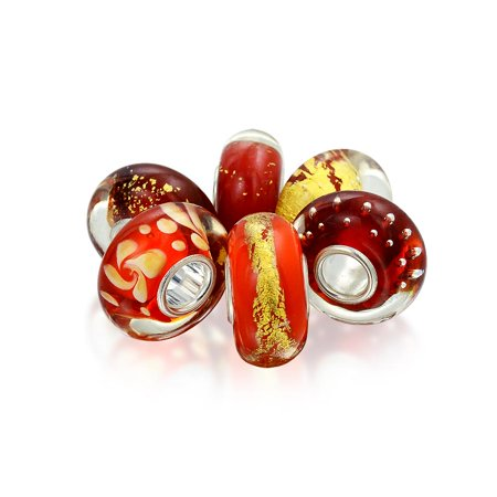 Bling Jewelry Simulated Citrine Glass Bead Bundle Sterling Fits Pandora