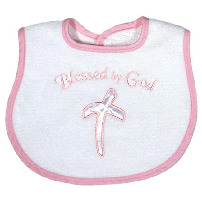 Raindrops A70235P Raindrops -Blessed by God- Appliqued Bib, Pink