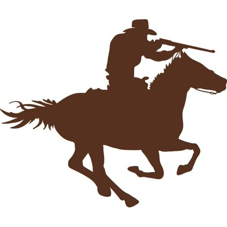 Horse And Rider Halloween Ideas (New Wall Ideas Cowboy Horse Rider Kids Boys Bed Room Fashion)