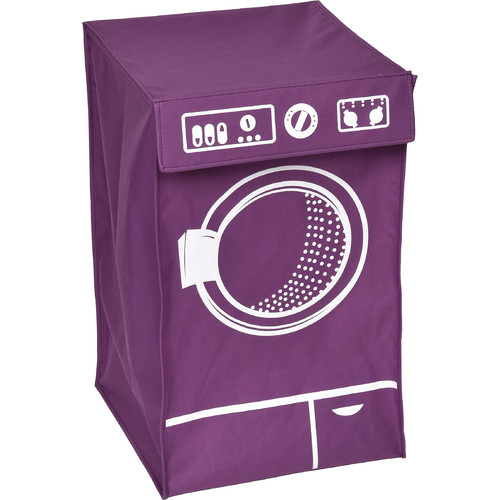 Laundry Hamper Bag Basket WASHING MACHINE with Top Flap - Polyester and Fibre...