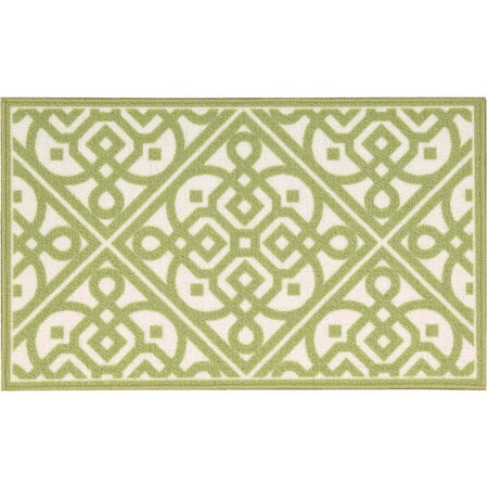 Nourison Waverly Fancy Free and Easy Lace It Up Celery Area Rug by - 1'10 x (Lace Rug)