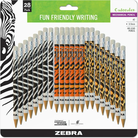 Zebra Pen, ZEB51628, Cadoozles Animal Print Mechanical Pencils, 28 /