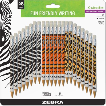 Zebra Pen, ZEB51628, Cadoozles Animal Print Mechanical Pencils, 28 / Pack (Mechanical Pens)