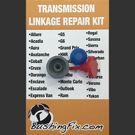 Pontiac Grand Prix Automatic shift cable repair kit with replacement Bushing Shift Cable Bushing Kit
