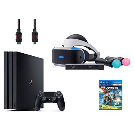 PlayStation VR Start Bundle 5 Items:VR Headset,Move Controller,PlayStation Camera Motion Sensor,PlayStation 4 Pro 1TB,VR Game Disc RIGS Mechanized Combat