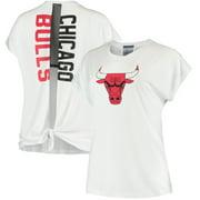 Chicago Bulls New Era Women's Split Back T-Shirt - White