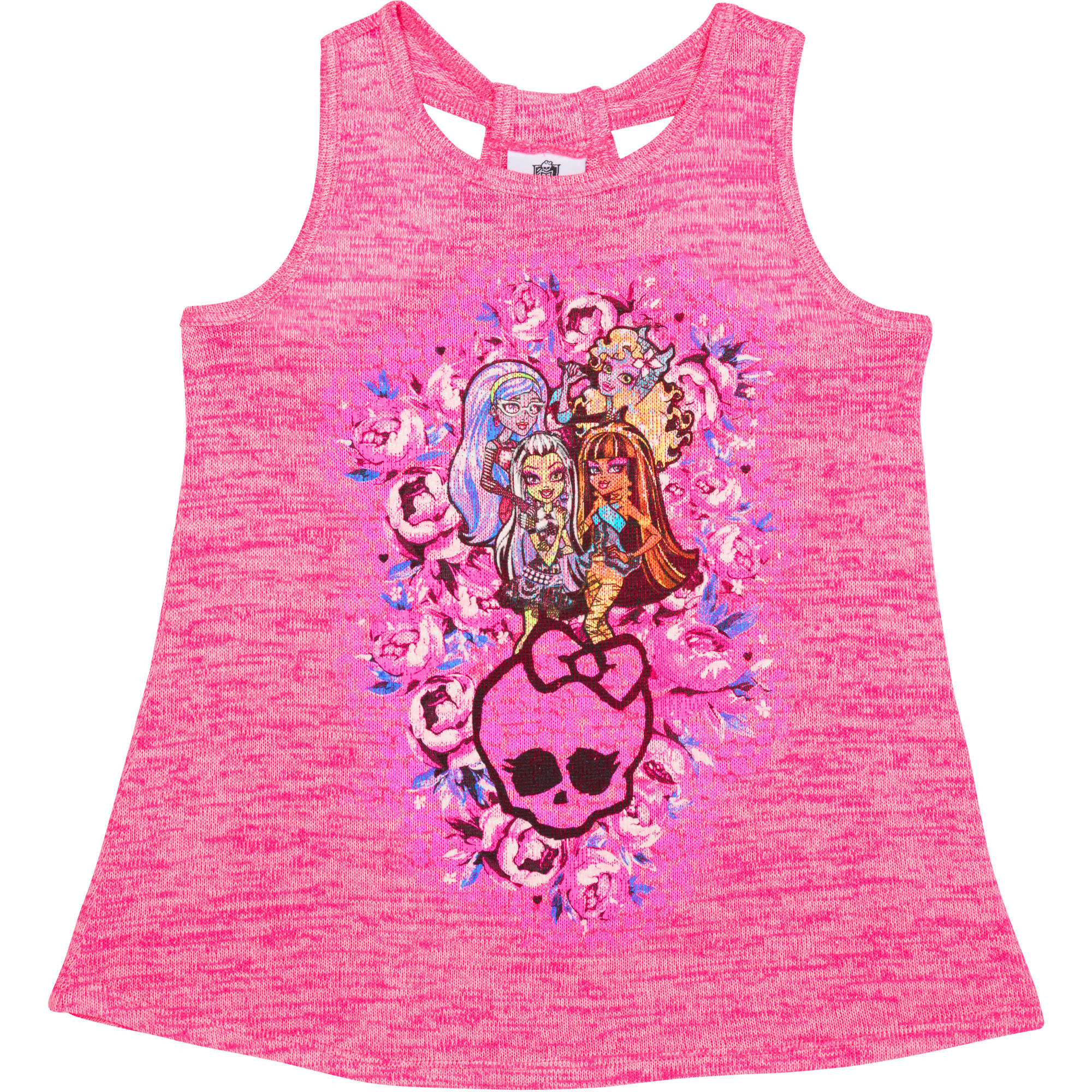 Monster High Girls' Monster Bouquet Peplum Tank