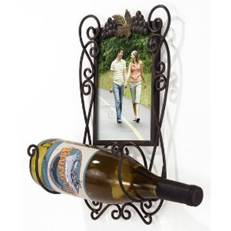 5X7 Single Wine Bottle Holder Picture Frame - Walmart.com