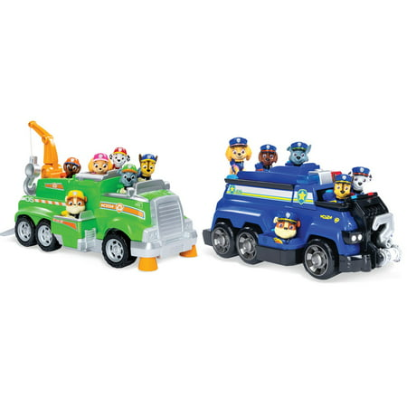 PAW Patrol Total Team Rescue Vehicle- Chase's Police Cruiser OR Rocky's Recyling Truck (Free Pickup In-Stores)