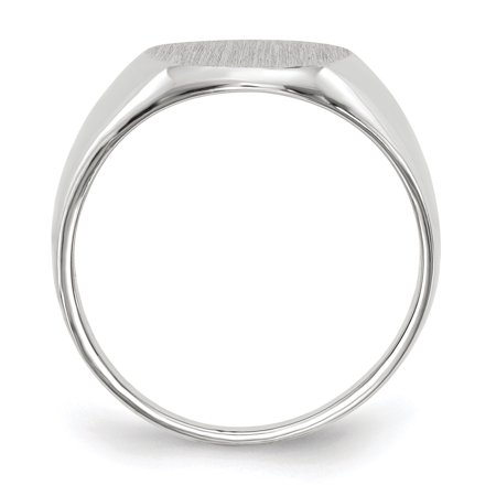 14k White Gold 12.5x11.0mm Signet Band Ring Size 6.00 Fine Jewelry Gifts For Women For Her - image 5 de 9