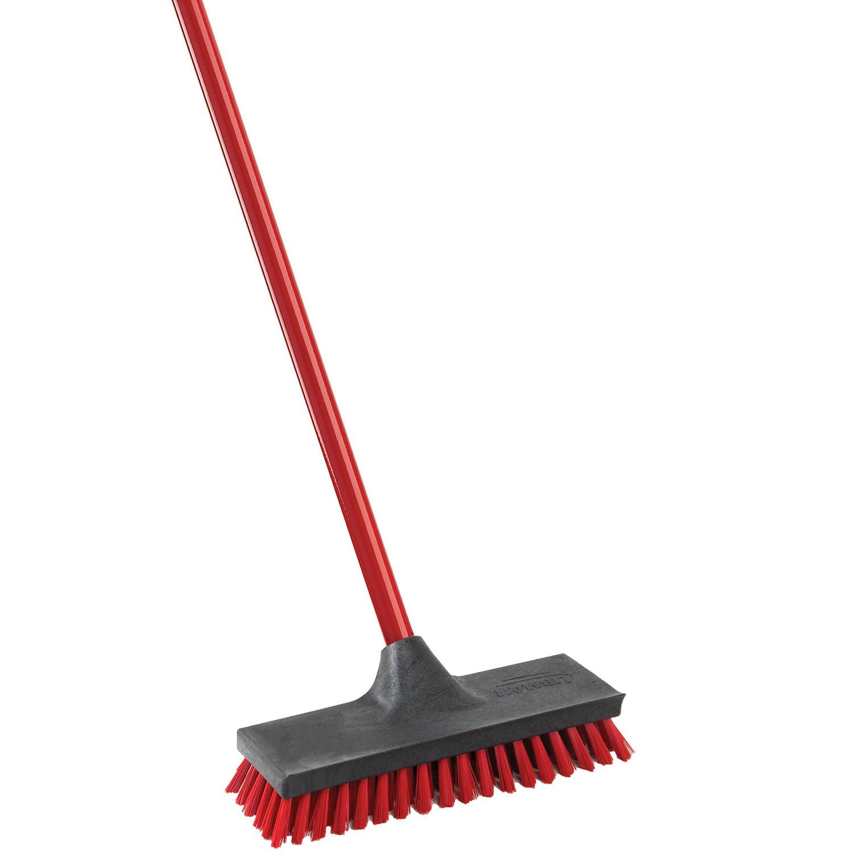 Hand Brush Floor Sweeper Garden Soft Bristles Broom Handle Cleaner Sweeping Deck