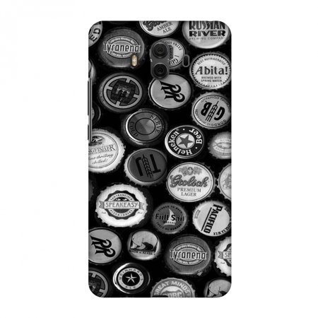 Screen Monochrome - Huawei Mate 10 Case, Premium Handcrafted Printed Designer Hard Snap on Shell Case Back Cover with Screen Cleaning Kit for Huawei Mate 10 - Beer Caps Monochrome