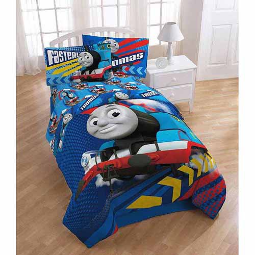 Thomas the Train Twin Full Bed Comforter Faster Tank Engine