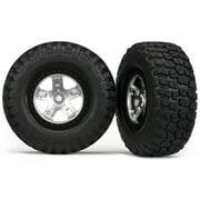 Traxxas Tire/Wheel Assembled Black Beadlock Fr/Re (2), 5878