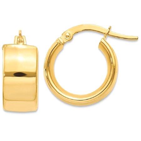 14kt Yellow Gold Hoop Earrings Ear Hoops Set Fine Jewelry Ideal Gifts For Women Gift Set From Heart 14k Gold Diamond Cut Heart Earrings