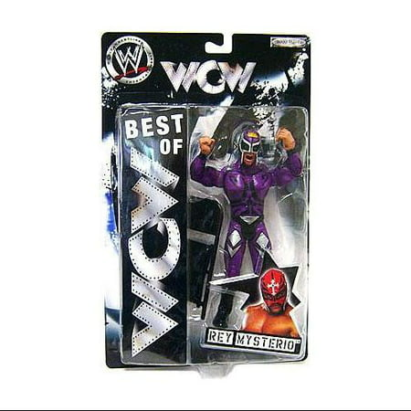 WWE Wrestling Best of WCW Rey Mysterio Action Figure [Purple Mask & Outfit] (Best Wrestling Outfits)