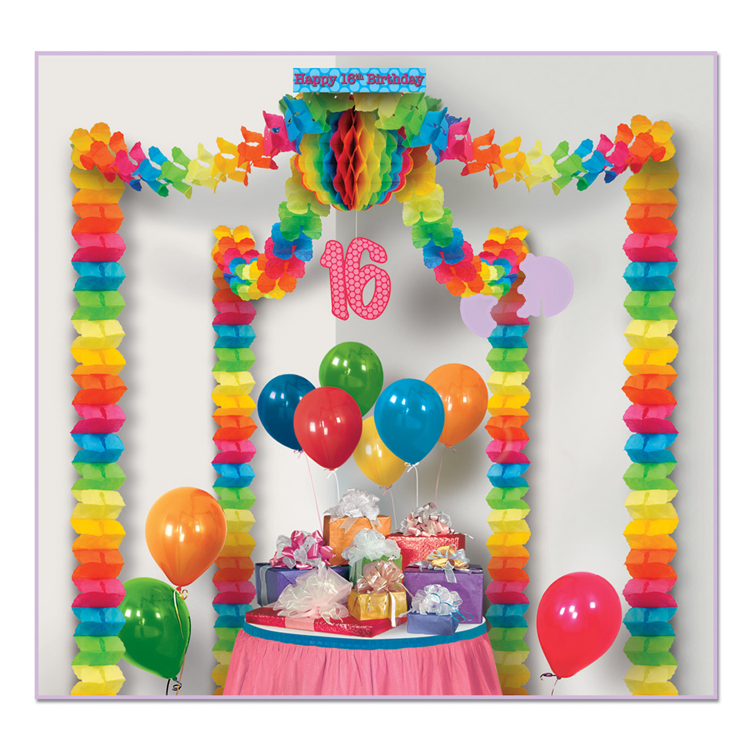 16th Birthday Party Canopy (Pack Of 6