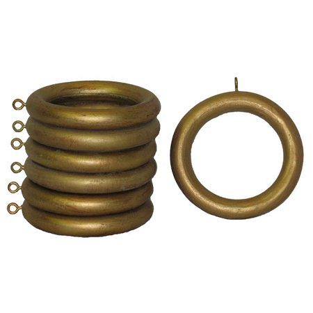 House Parts Inc Wood 2-inch Historical Gold Curtain Rings (Set of 7)