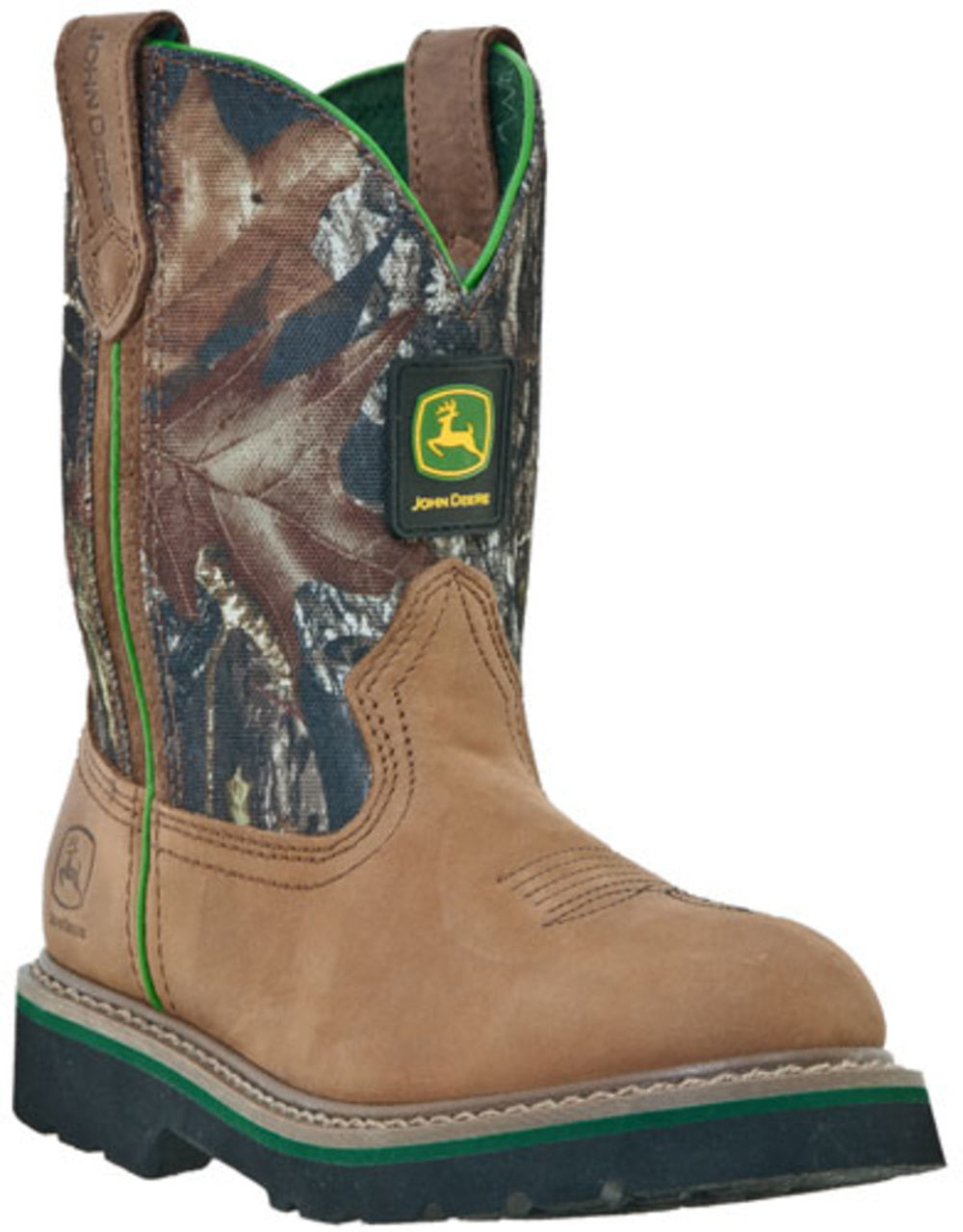 John Deere Kid's Boots Tan Camo 1 W by