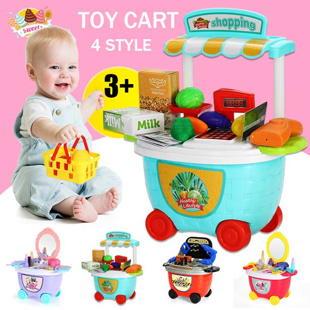 Gifts Loverly Kids Ice Cream Shop Dresser Cart Toy DIY Set Gift