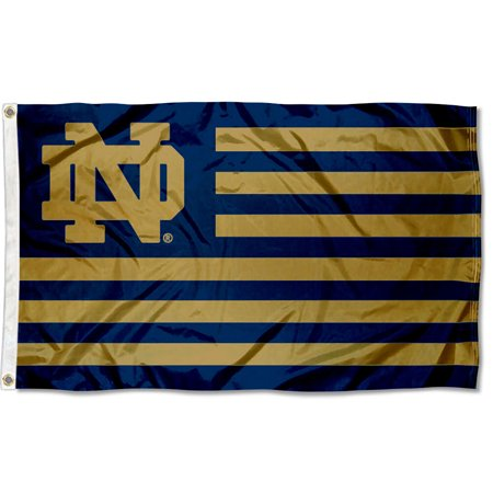 Notre Dame Fighting Irish American Flag Design 3' x 5' Flag
