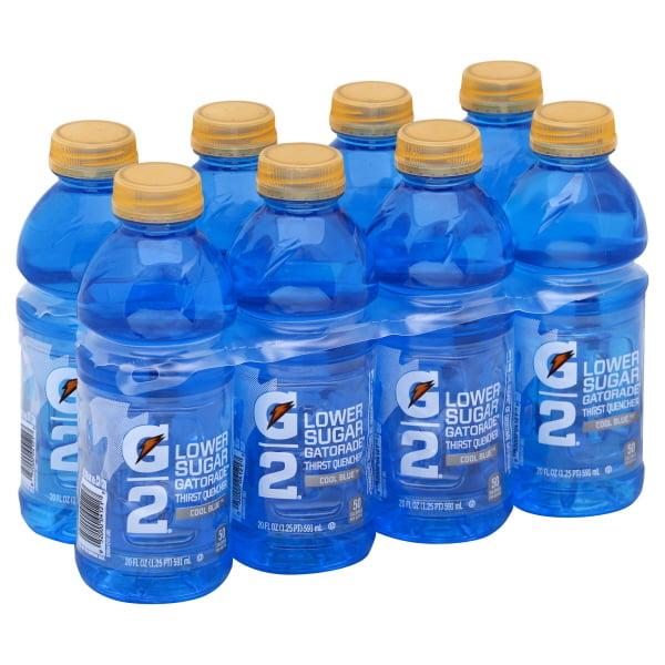 Gatorade G2 Lower Sugar Thirst Quencher Cool Blue Sport Drink, 20 Fl. Oz., 8 Count