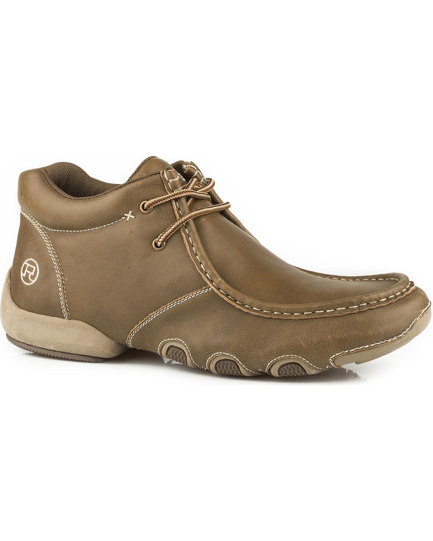 Roper Men's Vintage Leather 2 Eyelet Chukka Driving Moc Shoes - 09-020-1770-0760 Ta