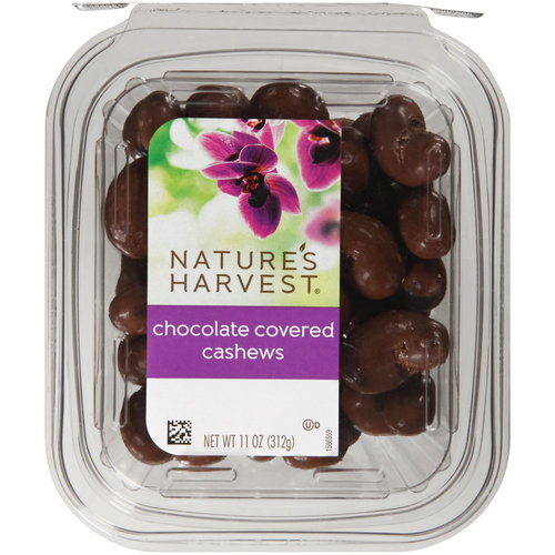 Nature's Harvest Chocolate Cashews, 11 oz