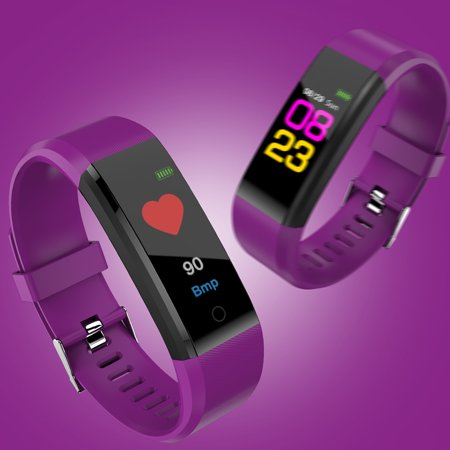 Sports Smart Watch Fitness Smart Bracelet Blood Pressure Heart Rate Sleeping Monitor Distance Calories Step Counter Message Call Reminder Smart Sports Wristband - image 4 of 7