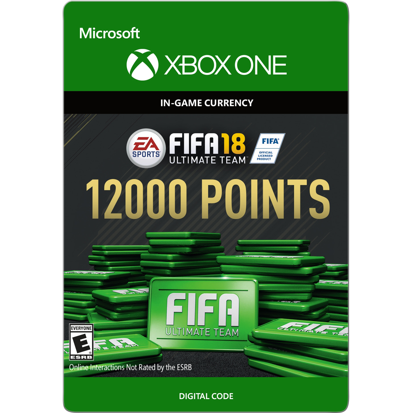 Xbox One FIFA 18 Ultimate Team 12000 Points (email delivery)