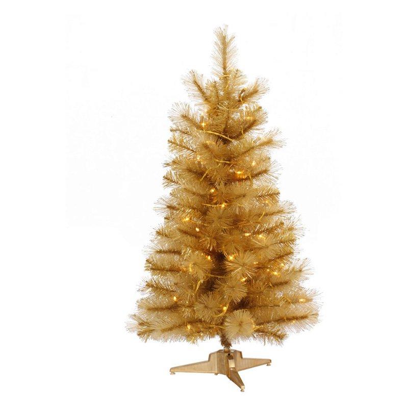 Vickerman Gold Glitter Cashmere Clear Pre-lit Christmas Tree