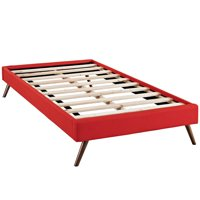Modway Helen Upholstered Bed Frame with Round Splayed Legs, Multiple Sizes and Colors