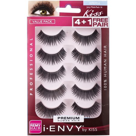 edfe9cef3f6 6 Pack - KISS I-Envy Juicy Multi Pack Eyelashes 5 ea - Walmart.com