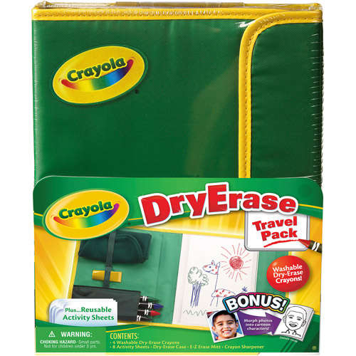 Crayola Dry Erase Crayon Activity Center Travel Pack
