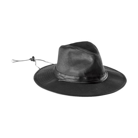 a3e526ada San Diego Hat Company Men's Distressed Faux Suede Pinch Crown Fedora Hat  Black OS