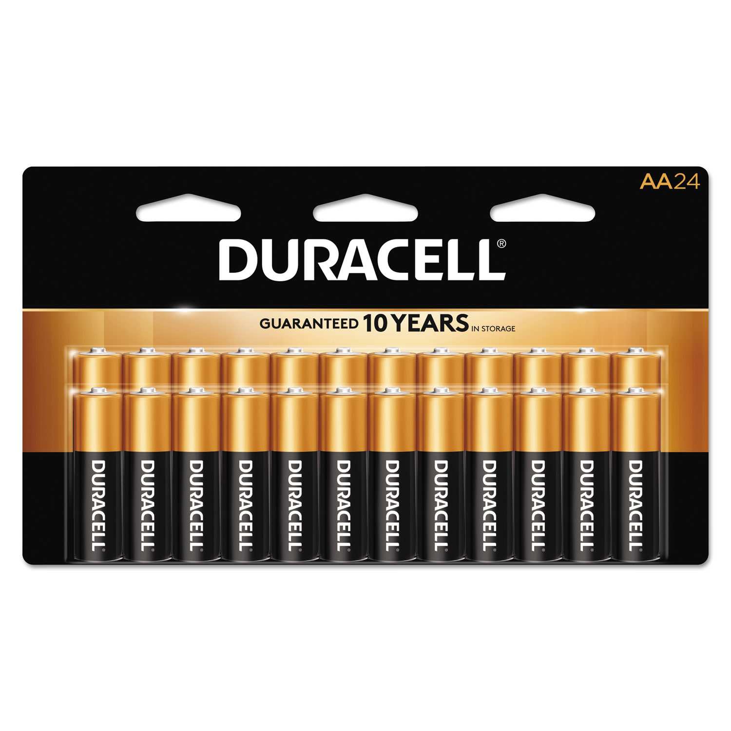 Duracell CopperTop Alkaline Batteries, AAA, 24/BX