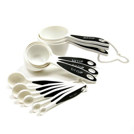 12 piece measuring set with cups and spoons. Black Bedroom Furniture Sets. Home Design Ideas