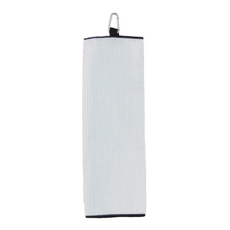 Carmel Fairway Tri Fold Waffle Weave Microfiber Golf Towel, Style C1717